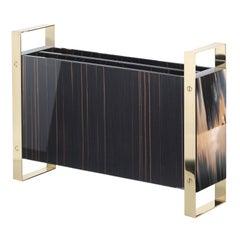 Ebony Wood Magazine Rack