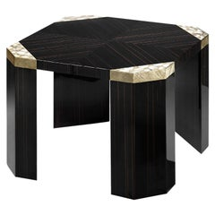Ebony Wood Square Side Table
