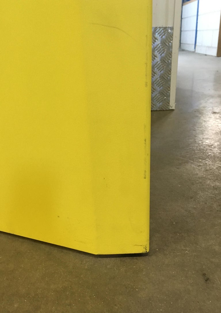 Eccentric Metal Yellow Z-Table by Claire Bataille and Paul Ibens for Bulo For Sale 3