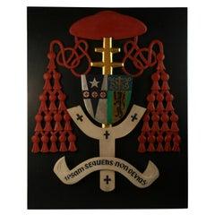 Ecclesiastic Cardinal Heraldry Hand Made Plaque/Wall Sculpture