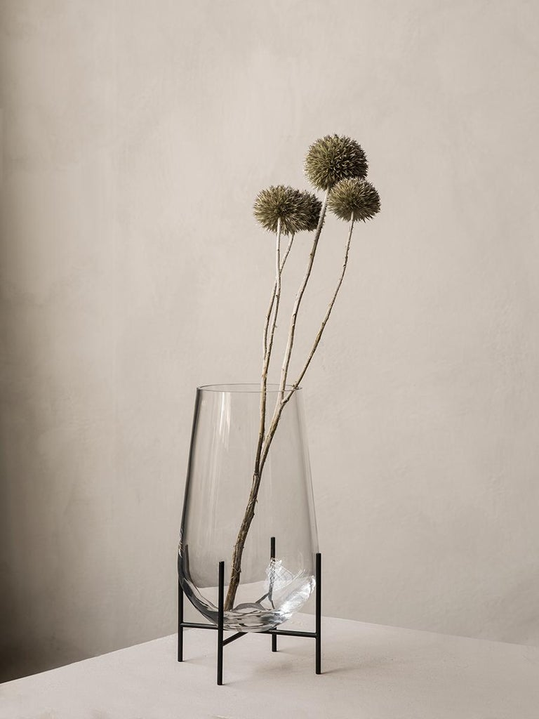 Powder-Coated Echasse Vase, Small, Clear by Theresa Arns For Sale