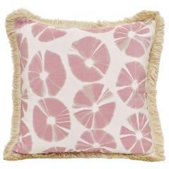Echino Accent Pillow with Circular Tie-Dye Motif & Fringe Detal by CuratedKravet