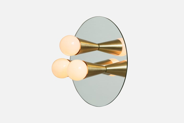 American Echo 3 Sconce/Flushmount in White, from Souda, in Stock For Sale
