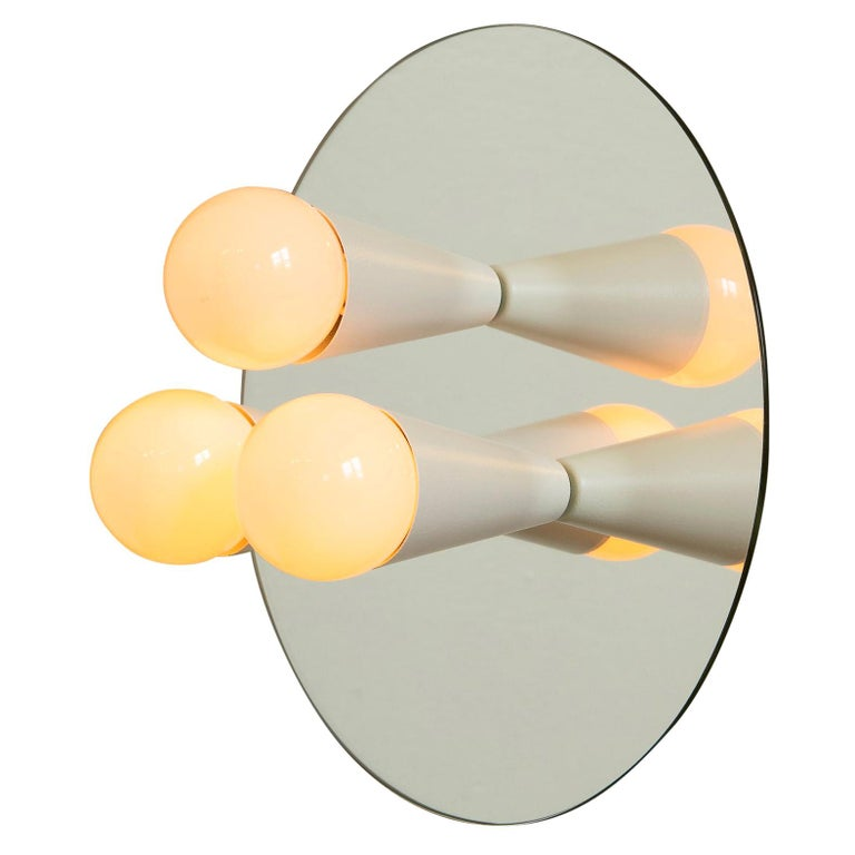 Echo 3 Sconce/Flushmount in White, from Souda, in Stock For Sale