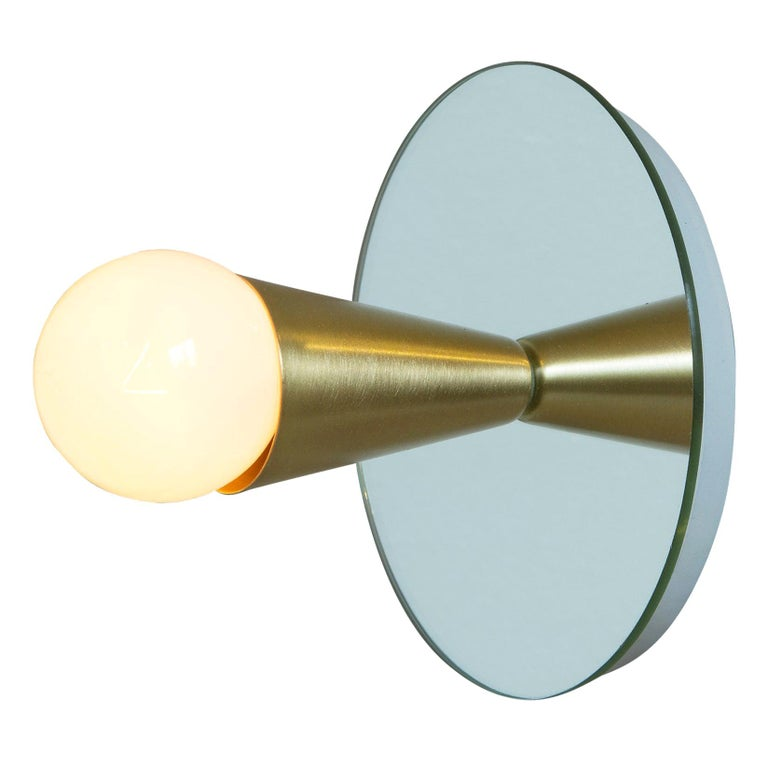 Echo One Sconce / Flush Mount in Brass from Souda, in Stock For Sale