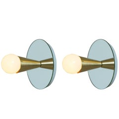 Echo One Sconce Pair/Flush Mount in Brass, from Souda, in Stock