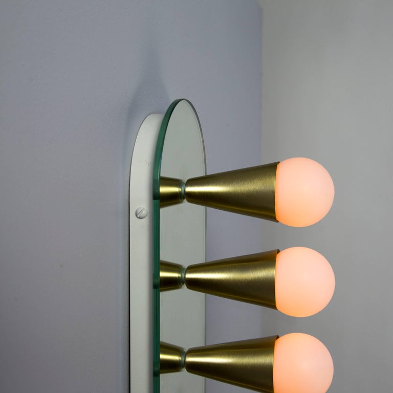 Metal Echo Six Sconce / Flush Mount in Brass, from Souda For Sale