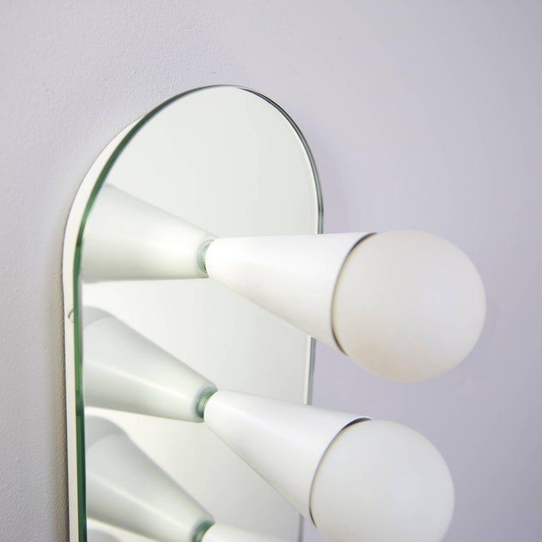 Powder-Coated Echo Six-Sconce / Flush Mount in White, from Souda For Sale