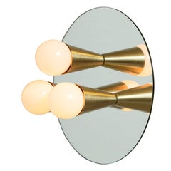 Echo Three-Sconce / Flush Mount in Brass, from Souda, In Stock