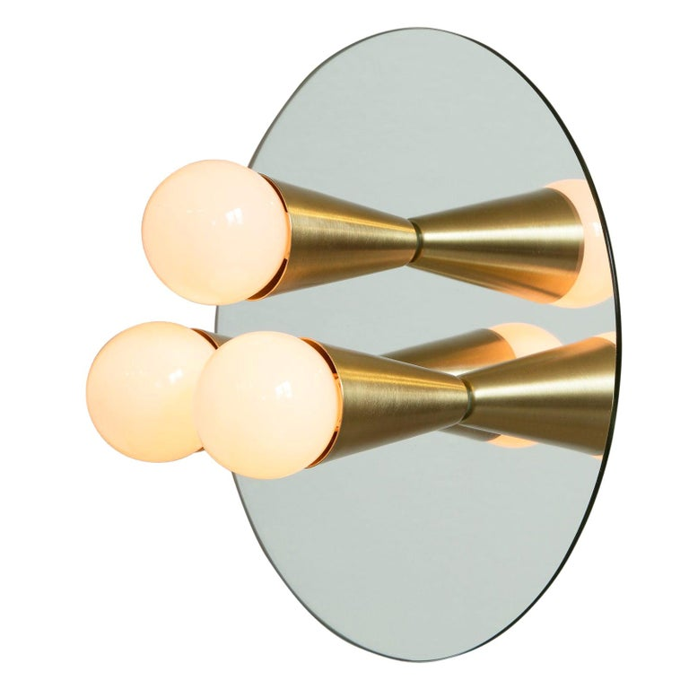 Echo Three-Sconce / Flush Mount in Brass, from Souda, In Stock For Sale