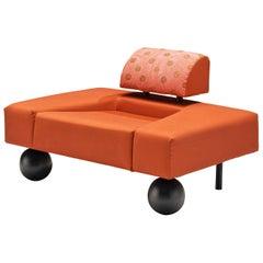 Eckhardt & Vrolijk for Pastoe Chair 'Pouffe Garni' in Red Fabric Upholstery