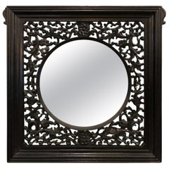 """""""Eclectic Anglo Carved Mirror 20th Century"""""""