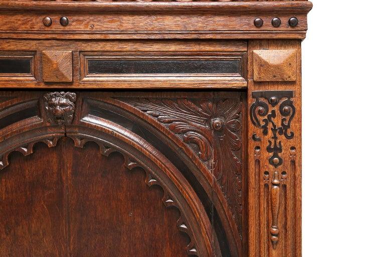 Eclectic Antique Dutch Renaissance Cabinet For Sale 2
