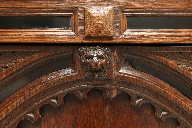 Eclectic Antique Dutch Renaissance Cabinet For Sale 4