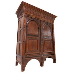 Eclectic Antique Dutch Renaissance Cabinet