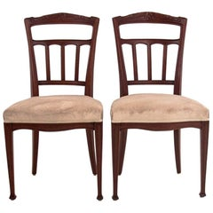 Eclectic Beech Chairs