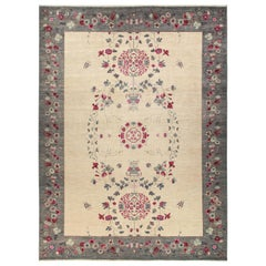 One-of-a-Kind Patterned & Floral Wool Hand-Knotted Area Rug, Multi, 10'1 x 13'8