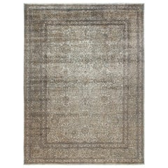 One-of-a-Kind Patterned & Floral Wool Hand-Knotted Area Rug, Oat, 8' 10 x 12