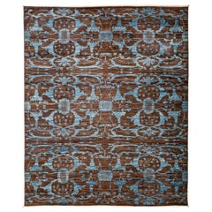 Eclectic Hand Knotted Area Rug in Sienna New Zealand Wool