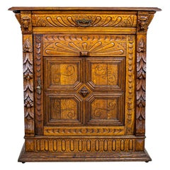 Eclectic Oak Cabinet from the 19th Century