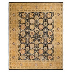 """Eclectic, One-of-a-Kind Hand-Knotted Area Rug  - Black, 12' 0"""" x 15' 2"""""""