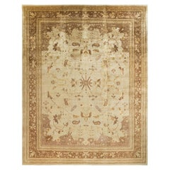 """Eclectic, One-of-a-Kind Hand-Knotted Area Rug  - Ivory, 12' 0"""" x 15' 1"""""""