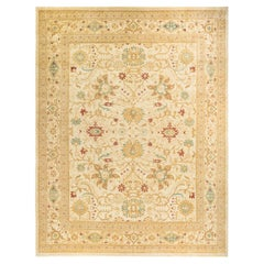 Eclectic, One-of-a-Kind Hand-Knotted Area Rug, Ivory