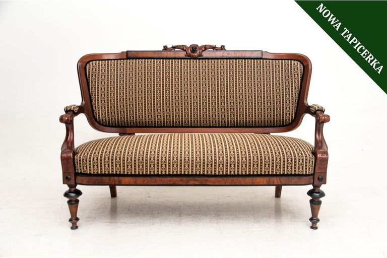 Chippendale Eclectic Style Sofa, Late 19th Century For Sale
