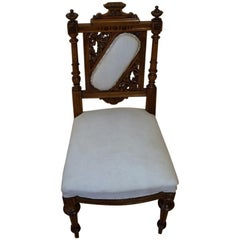 Eclectic Walnut Chair from 1880