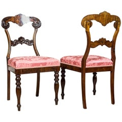Eclectic Walnut Chairs from the End of the 19th Century