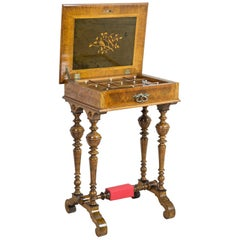 Eclectic Walnut Sewing Table, circa 1900