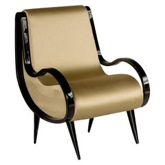 Eclipse Armchair in Gold Fabric
