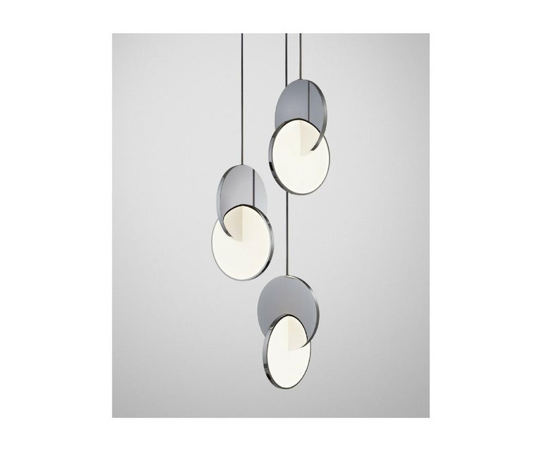 British Eclipse Chandelier 3-Piece For Sale