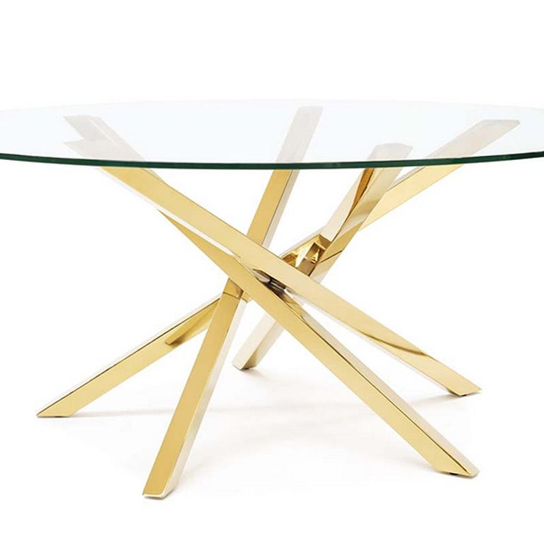 Gilt Eclipse Coffee Table in Gold Finish For Sale
