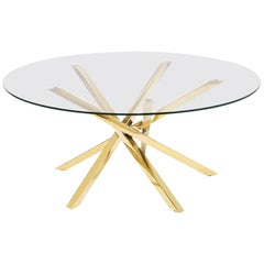 Eclipse Coffee Table in Gold Finish