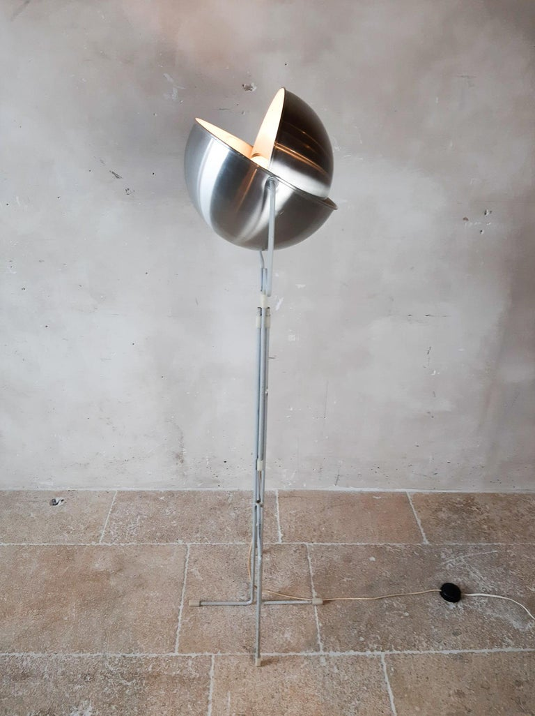 Cold-Painted Eclipse Floor Lamp by Jelles for RAAK, 1960s For Sale