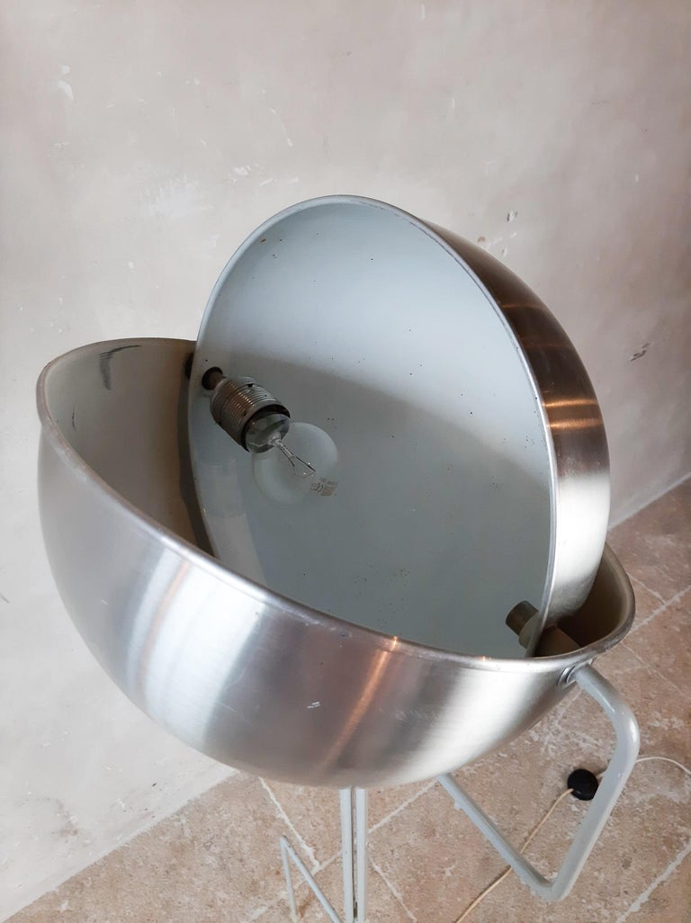 Aluminum Eclipse Floor Lamp by Jelles for RAAK, 1960s For Sale