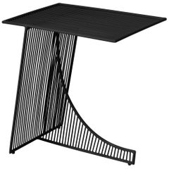 Eclipse Metal Contemporary Side Table in Black by Bend Goods