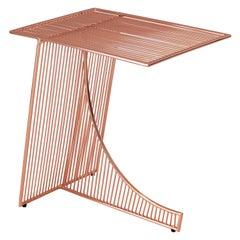 Eclipse Metal Contemporary Side Table in Copper by Bend Goods