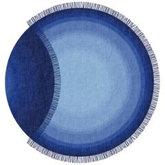 Eclipse Round Blue Area Rug