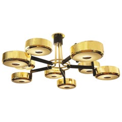 Eclissi Grande Ceiling Light-Carved Glass Version