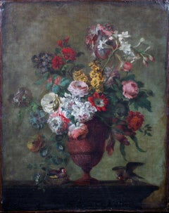 Still Life Of Flowers And Goldfinches, Circa 1700 French School