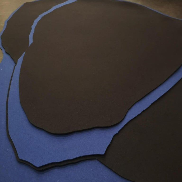 Eco's is a line of floor and wall mats made of black and blue wool felt. It is the result of the collaboration between the design studio FOAM and Déjate Querer, a Mexican studio focused on the manufacture of rugs made of wool felt.   Ecos rugs are
