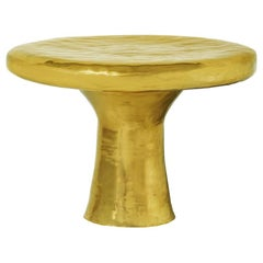 Ecstasy Dining Table in Brass by Scarlet Splendour