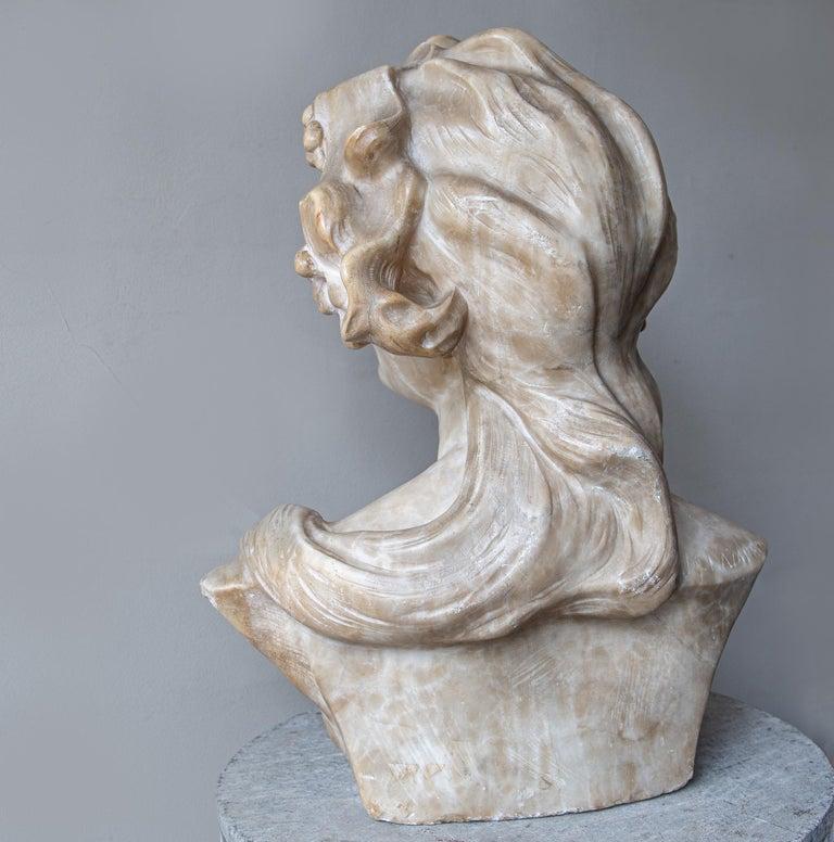 An Ecstatic Bacchanalian figure in alabaster by Jef Lambeaux, early 20th century For Sale 3