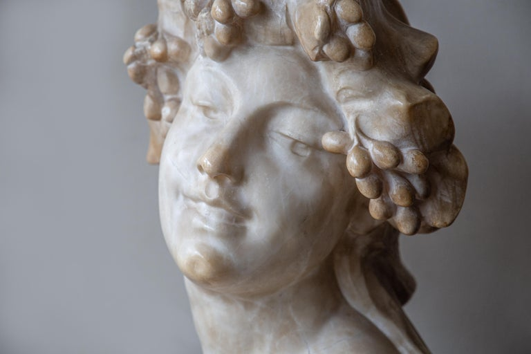 20th Century An Ecstatic Bacchanalian figure in alabaster by Jef Lambeaux, early 20th century For Sale