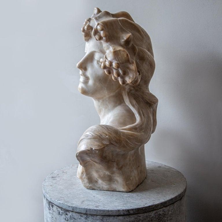 Alabaster An Ecstatic Bacchanalian figure in alabaster by Jef Lambeaux, early 20th century For Sale