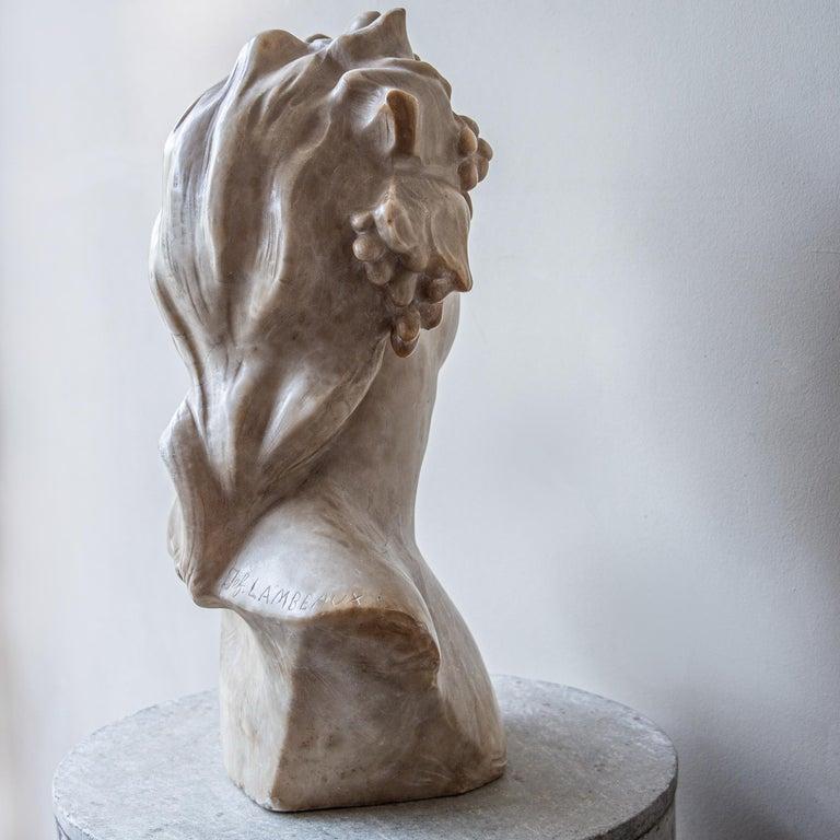 An Ecstatic Bacchanalian figure in alabaster by Jef Lambeaux, early 20th century For Sale 2