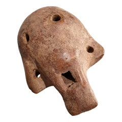 Ecuadorian Carved Skull Shaped Whistle