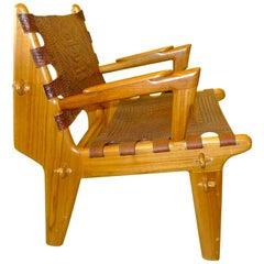 Ecuadorianischer Verzierter Leder Sessel